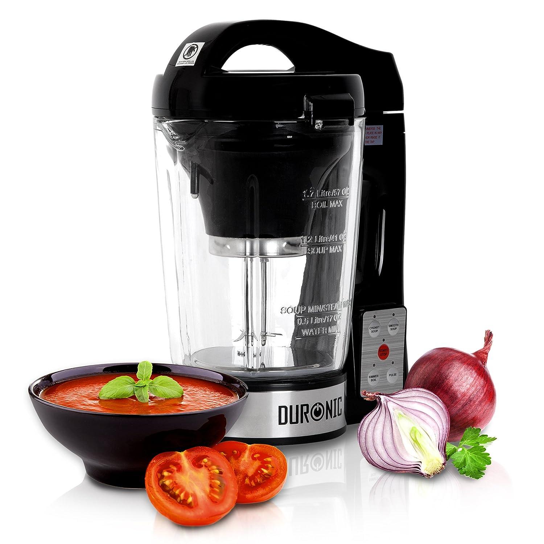 Duronic BL78 Frullatore soup maker multifunzione in vetro 800W Mixer per zuppe Crea deliziose zuppe con la semplicità di un tocco!
