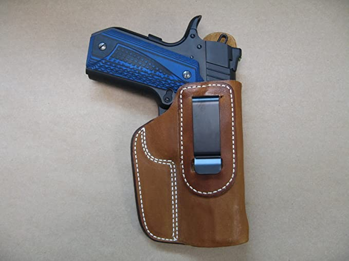 "# 7391L BLK KIMBER  4.25"" LEFT HAND Leather IWB Holster for COLT 1911 4.25"""