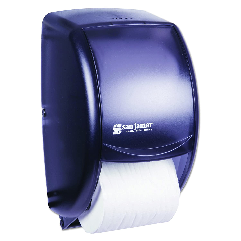 San Jamar R3000TBK Black Pearl Reserva Jumbo Roll Toilet Tissue Dispenser
