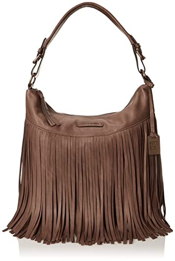 Amazon.com: FRYE Heidi Fringe Hobo-SVL Shoulder Bag, Grey, One ...