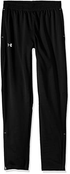 0cf379284 Under Armour Boys' Challenger Knit Pants, Black (001)/White, Youth