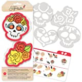 American Crafts 374553 Day of The Dead Sweet Sugarbelle Cookie Cutters Day of The Dead 7Piece
