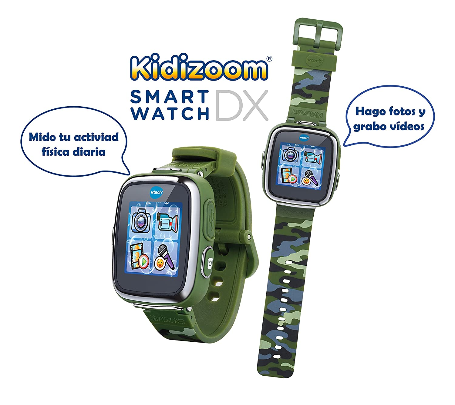 VTech Reloj multifunción Kidizoom Smart Watch DX, Color Camuflaje (80-171677)