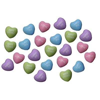 Curious Minds Busy Bags 24 Mini Conversation Heart Stress Balls - Unique Valentines Day Cards for Kids - Novelty Party Favor - 2 Dozen Bulk: Toys & Games