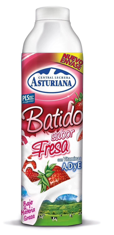 CENTRAL LECHERA ASTURIANA - Asturiana Batido De Fresa Botella 1 Lt: Amazon.es: Alimentación y bebidas