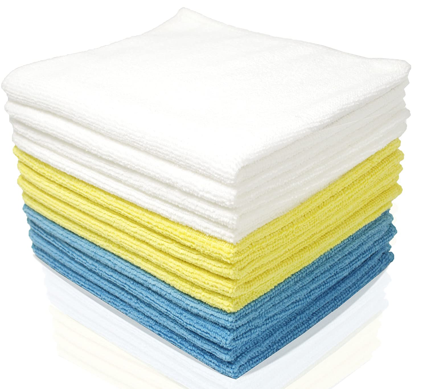 Royal Reusable Microfiber Cleaning Cloth Set - 12 x 16 Inch - 24 Pack