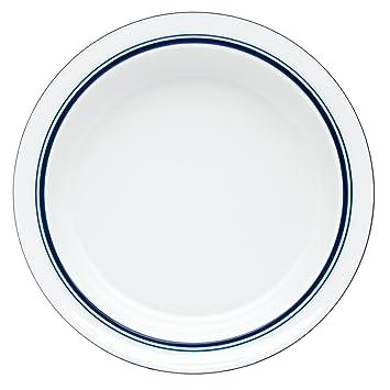 Amazon.com | Dansk Bistro Christianshavn Soup Bowl, Blue: Rimmed ...