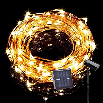 Amazon tasodin solar powered led string lights 328ft10m tasodin solar powered led string lights 328ft10m 100leds solar fairy lighting aloadofball Image collections