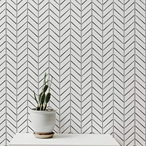 PINKIPO® 【2 Pack】, Herringbone Vintage - Reusable Allover Large Wall Stencils for Painting - 3 Sizes - Pinkipo