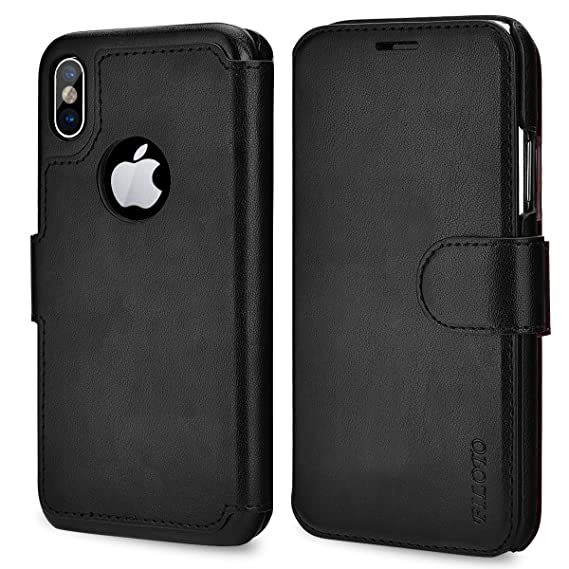 huge selection of fb7fe 143e7 Filoto iPhone X Wallet Case, iPhone X Case, Premium PU Leather Wallet Case  with Card Holder/Magnetic Closure Flip Cover for Apple iPhone X iPhone 10  ...