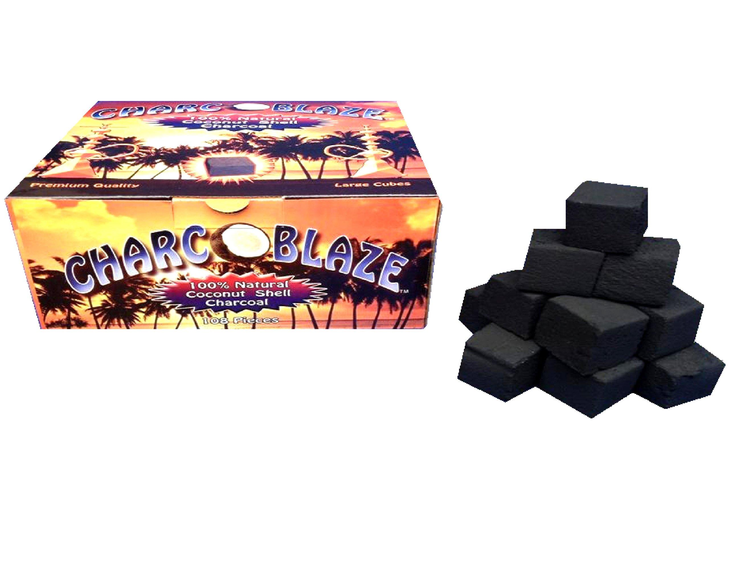Charcoblaze Hookah Charcoal 108 Pieces Large Coconut