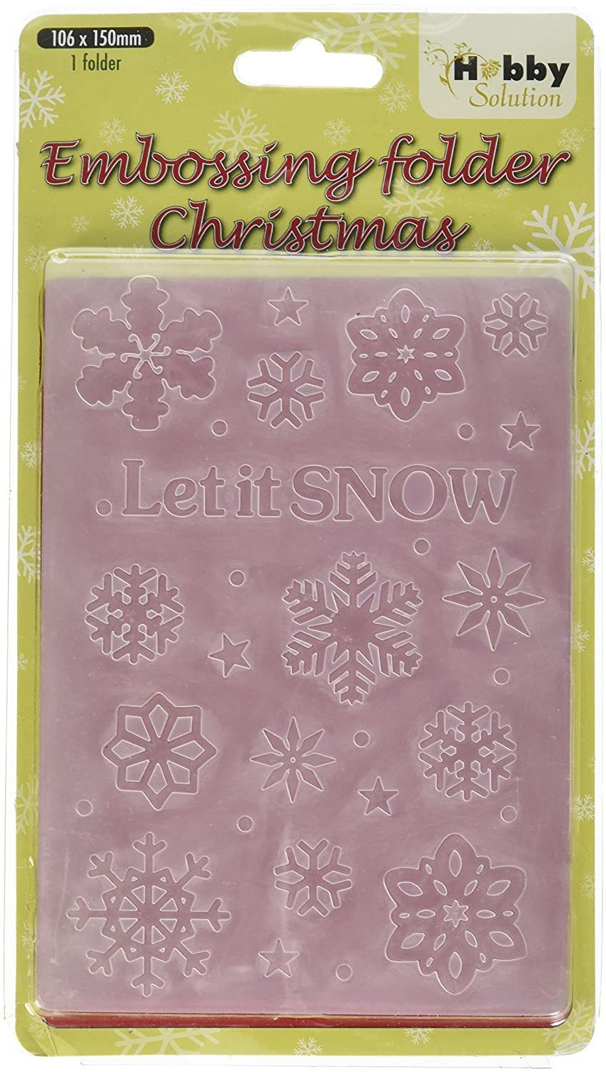 Crafts-Too Embossing Folder, Let It Snow CTFD3072