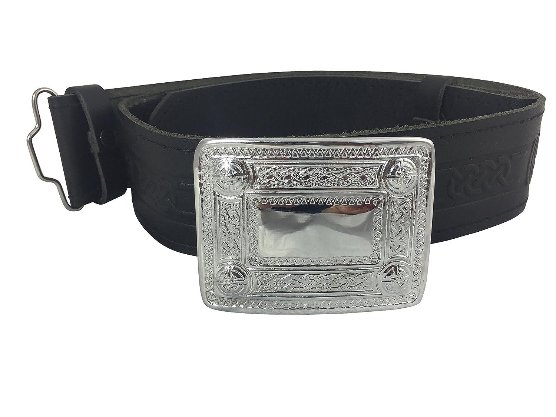 Glasgow Kilt Company - Cinturón - para hombre negro negro X L ...