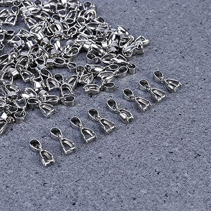 Plata SUPVOX 100pcs Broche de joyer/ía Colgante Clip Colgante conector de cierre para la joyer/ía DIY Accesorio 20mm