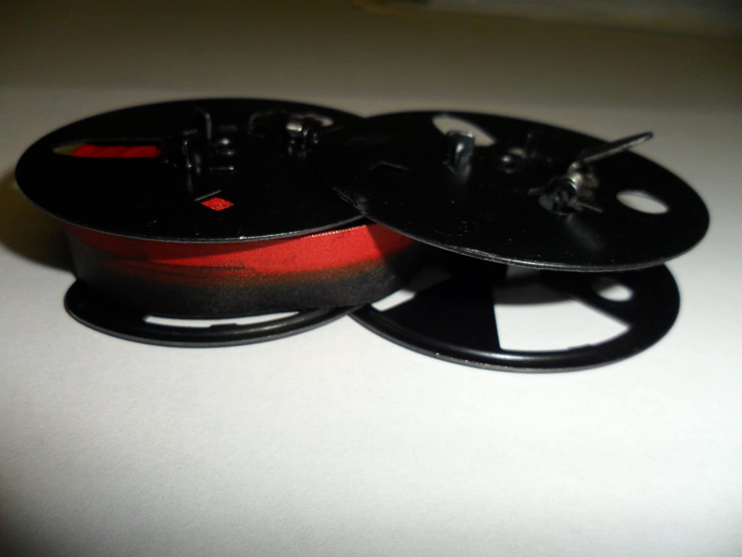 Royal 10, FP, HH, KHM and KMM Typewriter Ribbon, Black and Red, Compatible, 2 3/8 Twin Metal Spool 2 3/8 Twin Metal Spool LYSB00HV3827C-ELECTRNCS