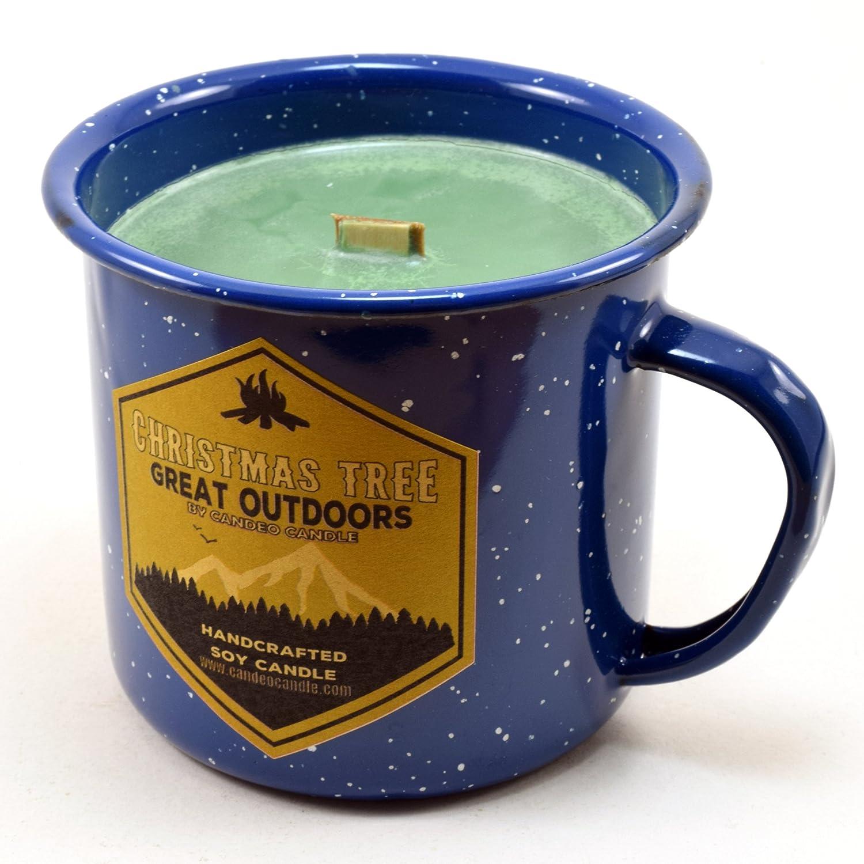 【海外輸入】 クリスマスツリーウッド芯Soy Candle Candle B0776YJSHN in anエナメルキャンプマグカップ in、10オンス B0776YJSHN, 坂内村:7f1c75bc --- a0267596.xsph.ru