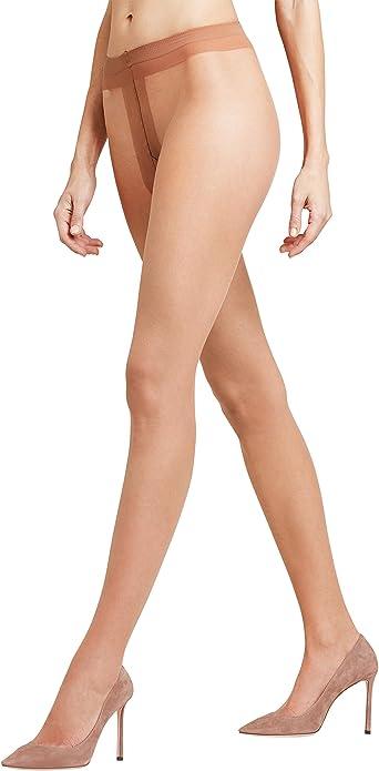 Ladies 1 Pair Falke Shelina 12 Denier Ultra Transparent Tights With Shimmer Noisette S