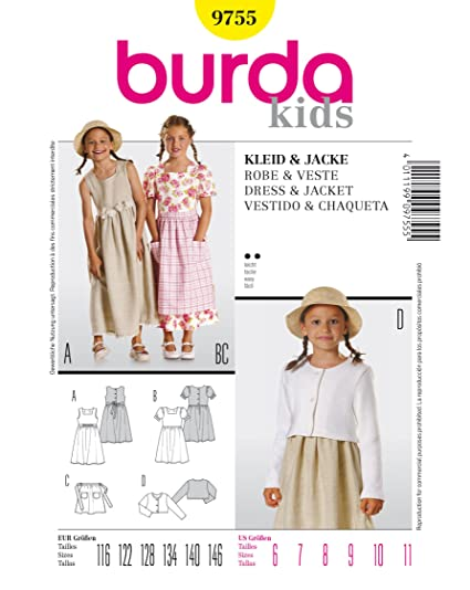 Burda Sewing Pattern 9755 Burda Style, Dress & Jacket
