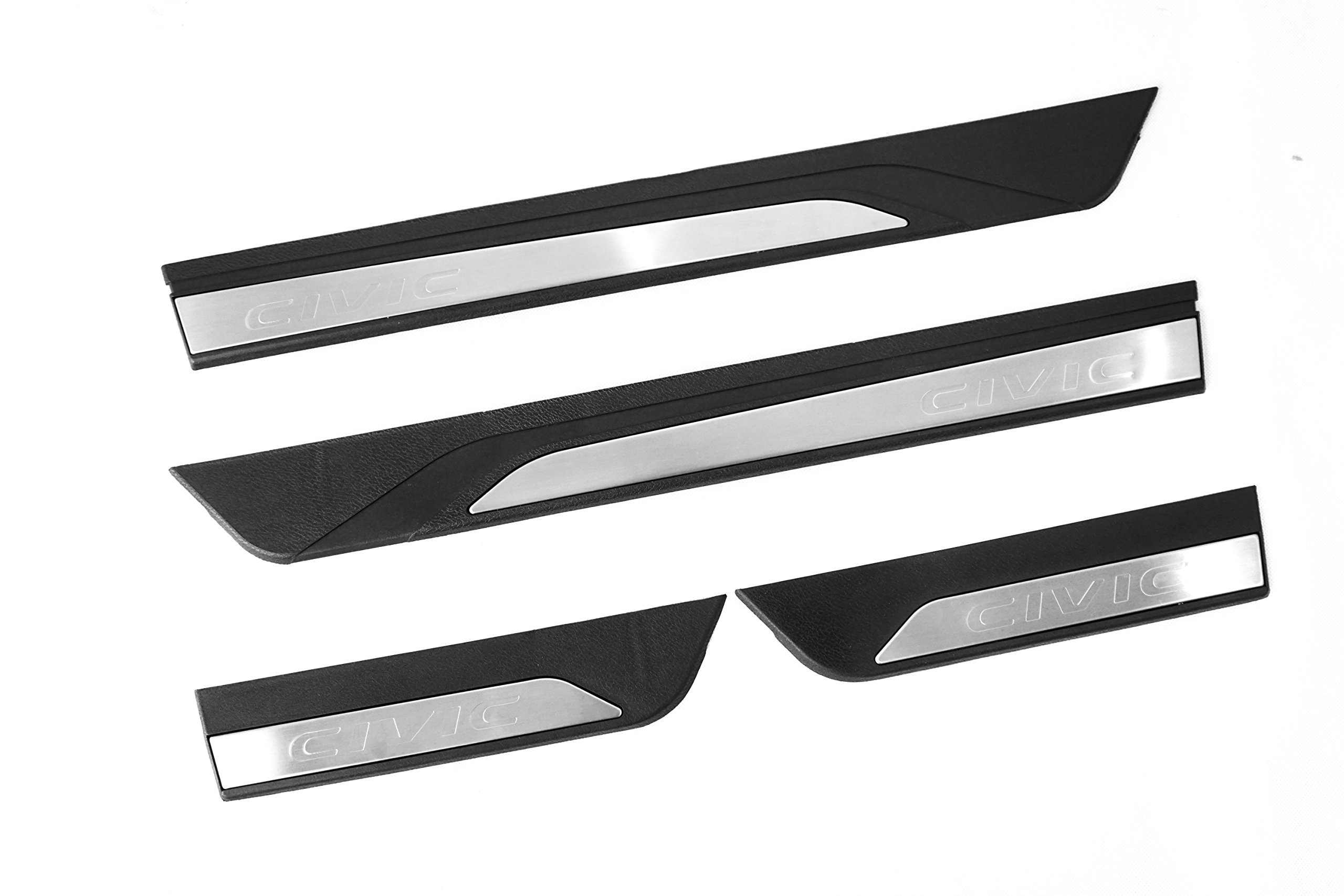 Vesul 4PCs Stainless Steel Outside Door Sill Scuff Plate Guard Door Entry Pad Fits on Honda Civic Sedan 2016 2017 2018 2019