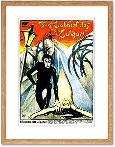 Wee Blue Coo 9x7 '' Movie Film Cabinet Doctor Caligari Horror Krauss Framed Art Print F97X535