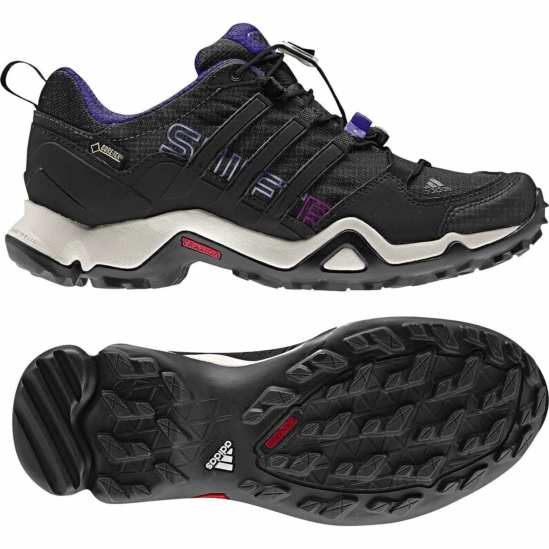 c93f501cb6 Adidas Terrex Swift R Gtx W Black / Blast Purple Women's Hiking Shoes -  10.5 B(M) US