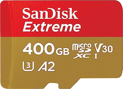 SanDisk Extreme - Tarjeta de memoria microSDXC de 400 GB con ...