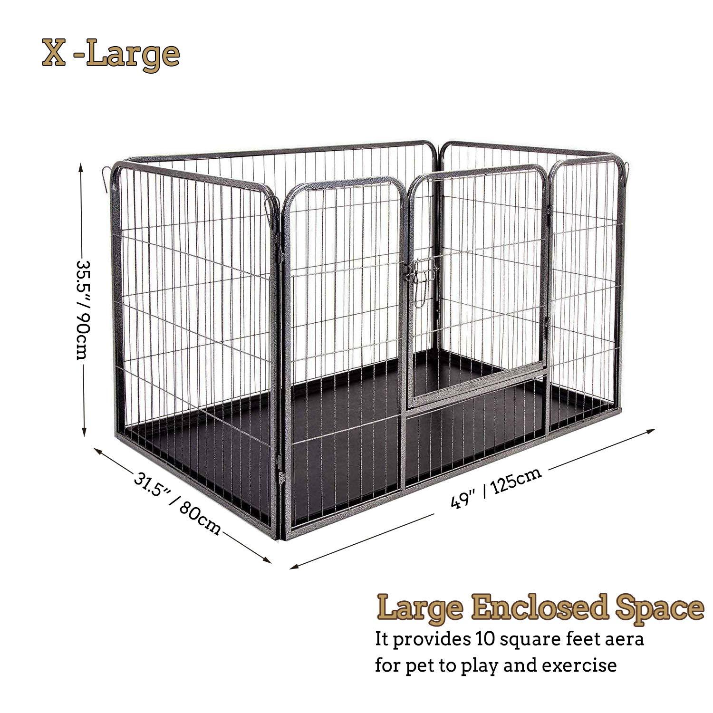 Docamor Jaula para Cachorros de Perro, 4 Paneles Resistentes para ...
