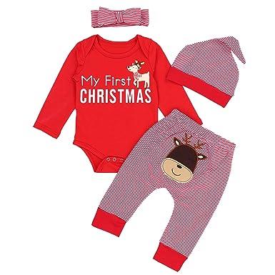 65560f895 Amazon.com  KANGKANG Christmas Outfits Baby Girls Boys My First ...
