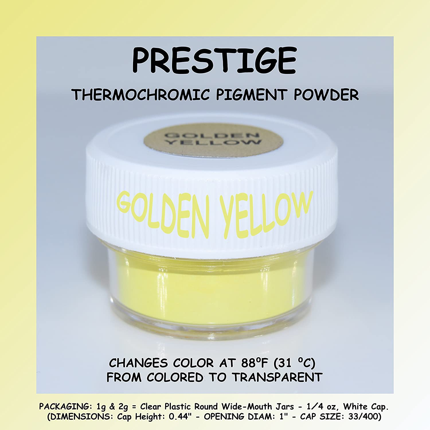 PRESTIGE THERMOCHROMIC PIGMENT THAT CHANGES COLOR AT 88⁰F(31 ⁰C) FROM COLORED TO TRANSPARENT (Colored Below The Temperature, Transparent Above) Perfect For Color Changing Slime! (10g, BLACK) UNIGLOW PRODUCTS LLC.