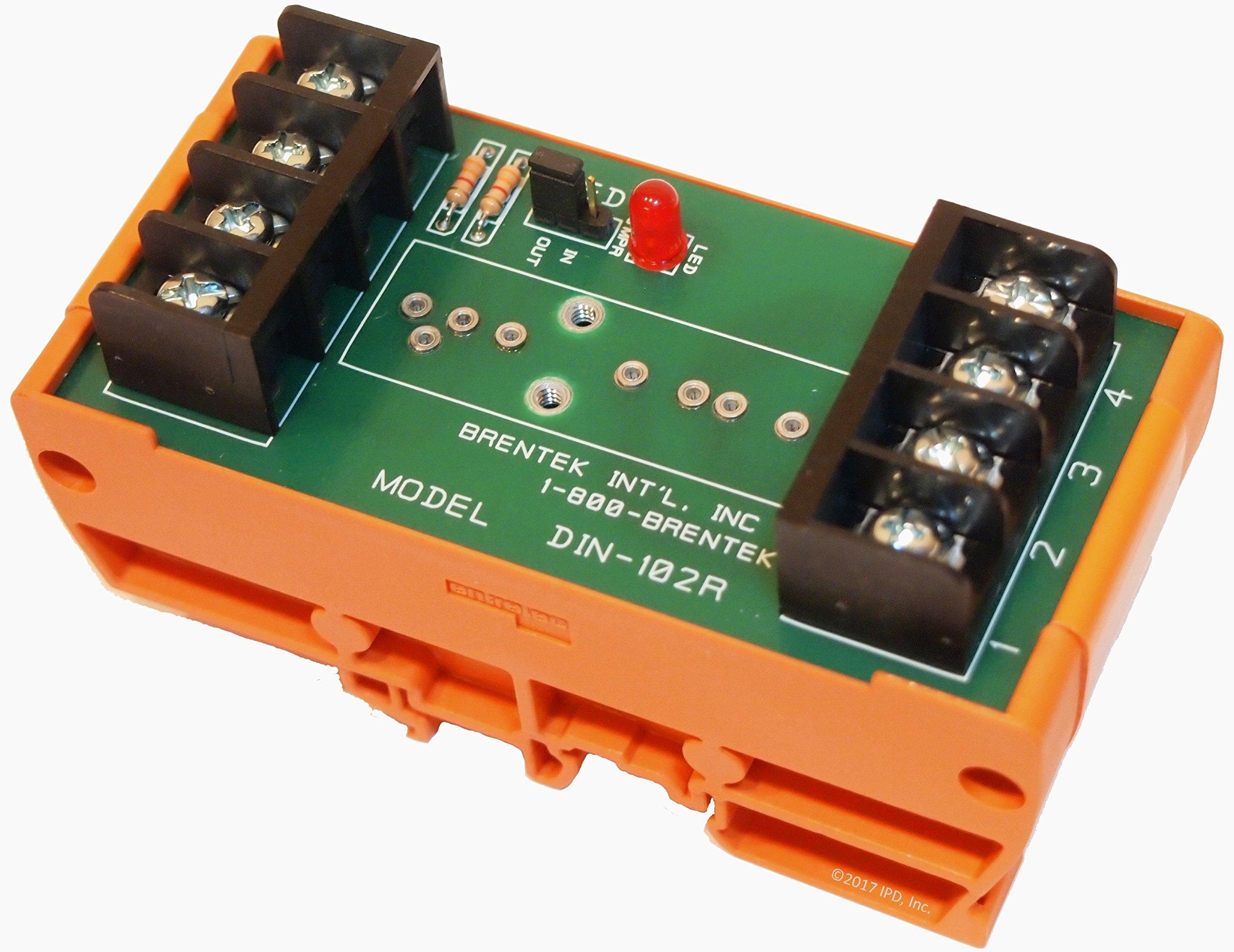 DIN-102R DIN-Mount I/O Module Rack- by Brentek