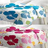 eCraftIndia Polycotton AC Blanket for Single Bed (Blue and Pink)