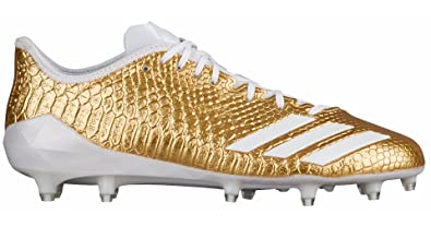 adidas Adizero 5Star 6.0 Gold Cleat Men s Football 17 Gold  Metallic-White-White 7ba2635ae