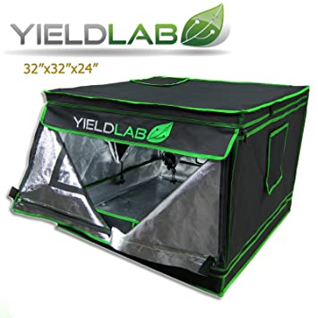 Yield Lab 32u0026quot; x 32u0026quot; x 24u0026quot; Grow Tent with Viewing Window u2013  sc 1 st  Amazon.com & Amazon.com : Yield Lab 32