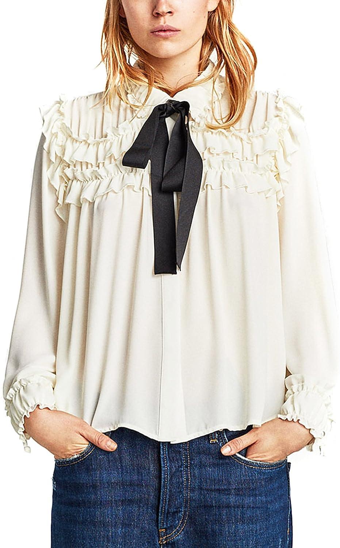 Zara Camisas - para mujer Weiß L: Amazon.es: Ropa y accesorios
