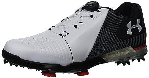 Under Armour Mens 2018 UA Spieth 2 BOA Golf Shoes - White Black - UK 423de7bd6