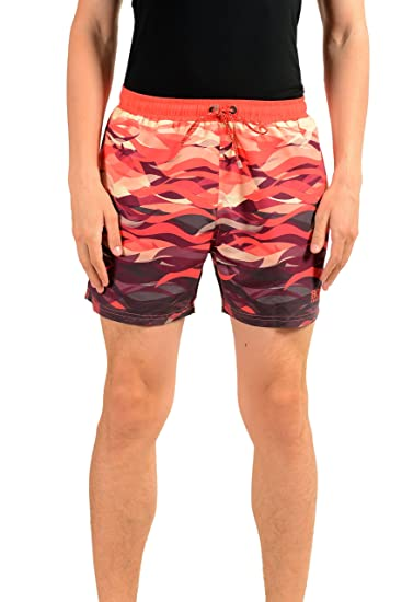 98a7f28d77 Image Unavailable. Image not available for. Color: Hugo Boss Piranha Men's  Multi-Color Board Swim Shorts ...