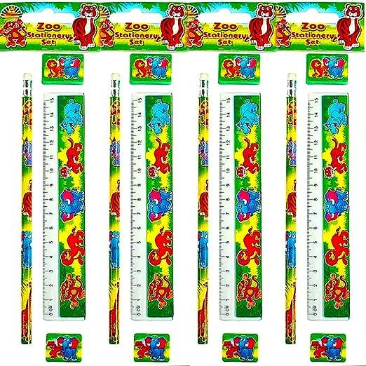 Smiley Radierer am Stiel 8 x Smiley Bleistifte German Trendseller®