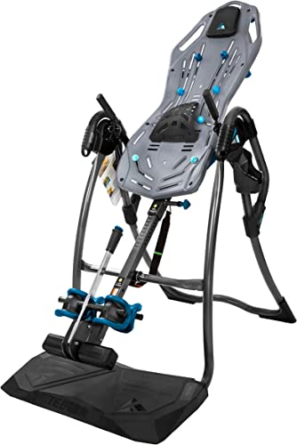 Teeter FitSpine LX9 Inversion Table, 2019 Model, Deluxe Easy-to-Reach Ankle Lock, Back Pain Relief Kit, FDA-Registered