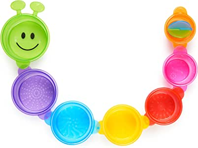 Munchkin Caterpillar Spillers Stacking and Straining Cups Bath Toy