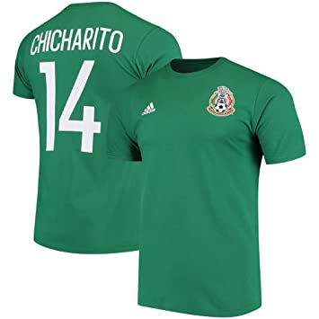 newest 5ab41 33e1f adidas Chicharito Hernandez Mexico World Cup Men's Green Name and Number  T-Shirt