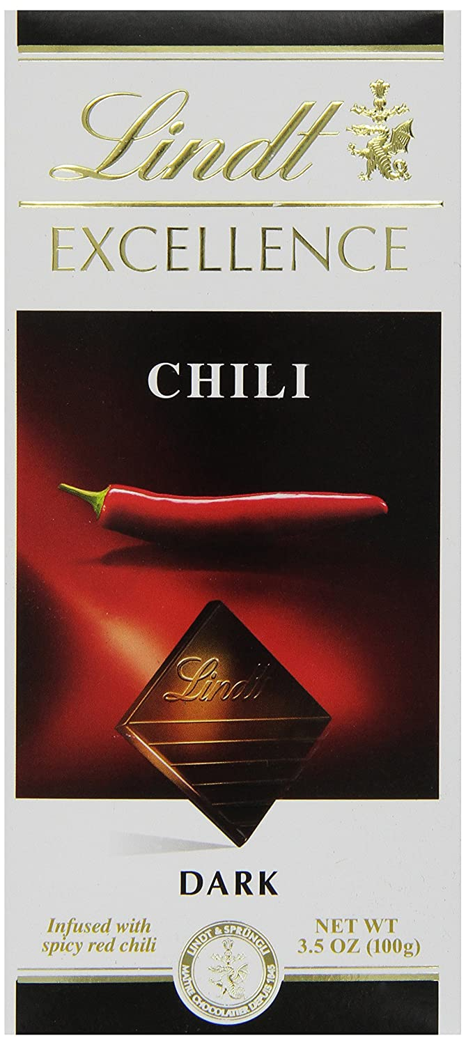 Amazon.com : Lindt Excellence Chili Dark Chocolate Bar, 3.5 Ounce ...