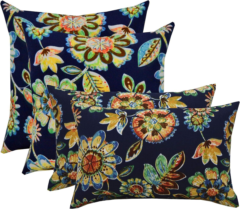 2 Each 17 x 17 /& 2 Each 20 x 12 Gregoire Fresco Set of 4 RSH D/écor Indoor Outdoor Pillows