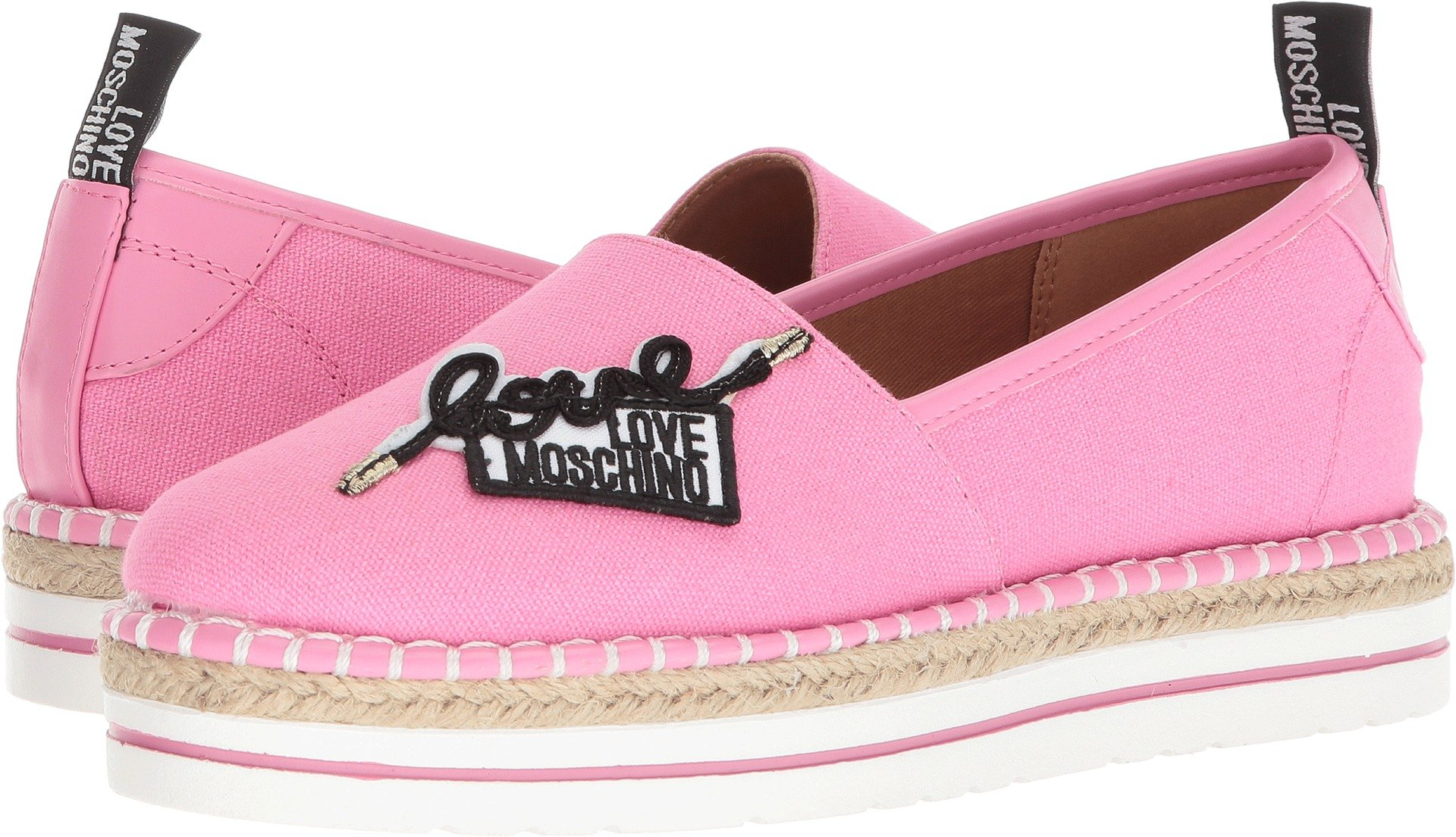 Love Moschino Women's Canvas Espadrille Pink 38 M EU