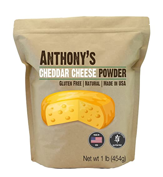 Cheddar Cheese Powder (1 5 Pound) by Anthony's, Batch Tested and Verified  Gluten-Free, No Artificial Colors