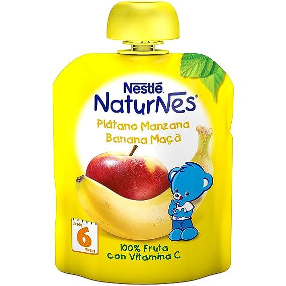 Nestlé Naturnes - Bolsitas de Plátano y Manzana - A Partir de 6 Meses - Pack