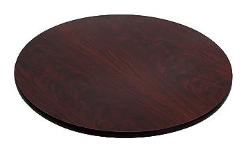 flash furniture 30 u0027 u0027 round table top with black or mahogany reversible laminate top amazon com  flash furniture 30 u0027 u0027 round table top with black or      rh   amazon com