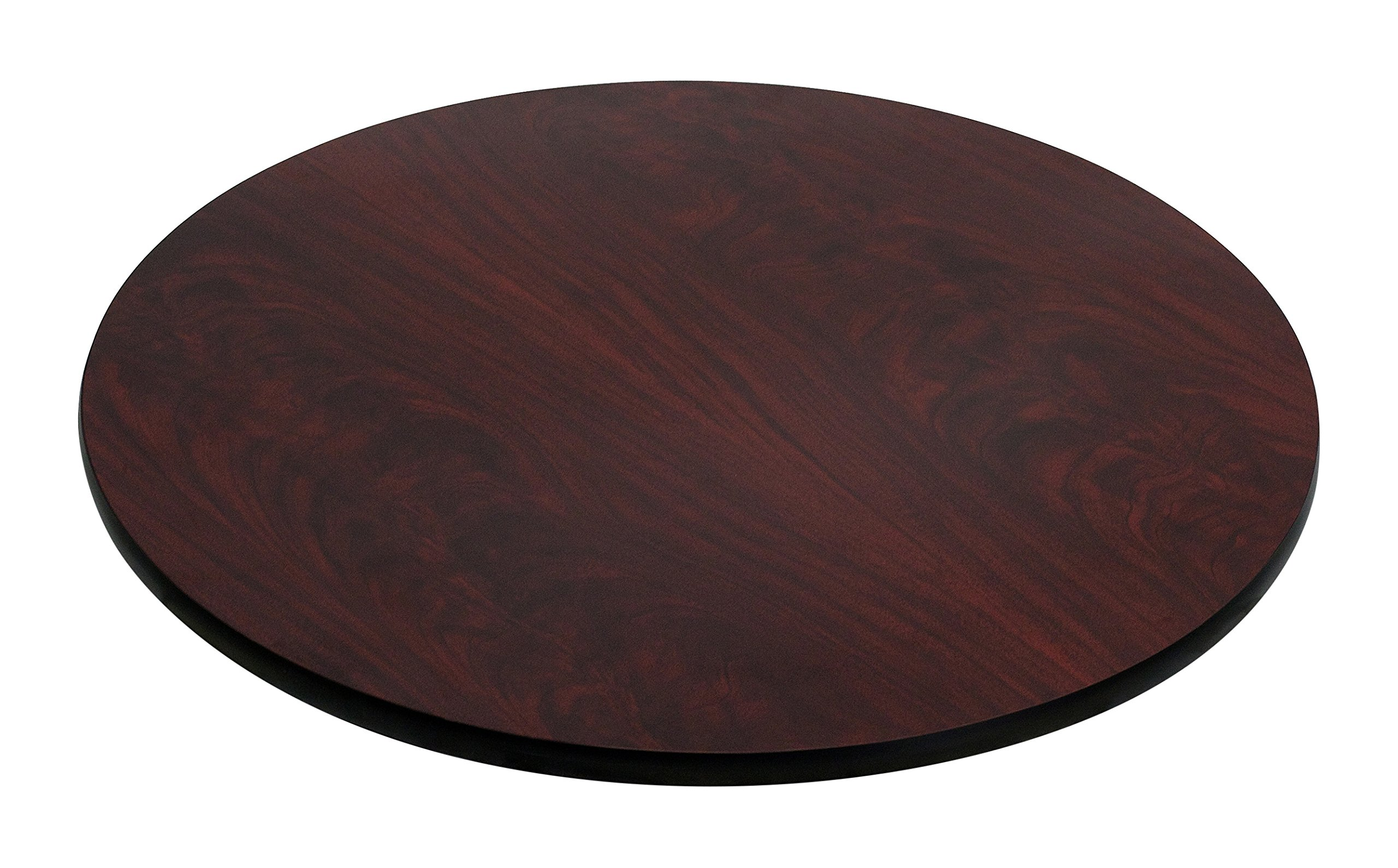 Flash Furniture 30'' Round Table Top Black Mahogany Reversible Laminate Top