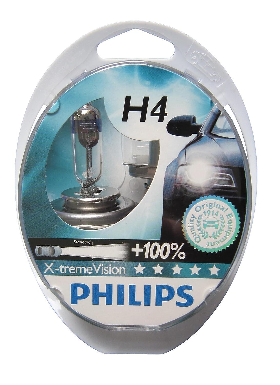 12342XV Philips H4 X-treme Vision Car Headlight Bulbs 12v 55w