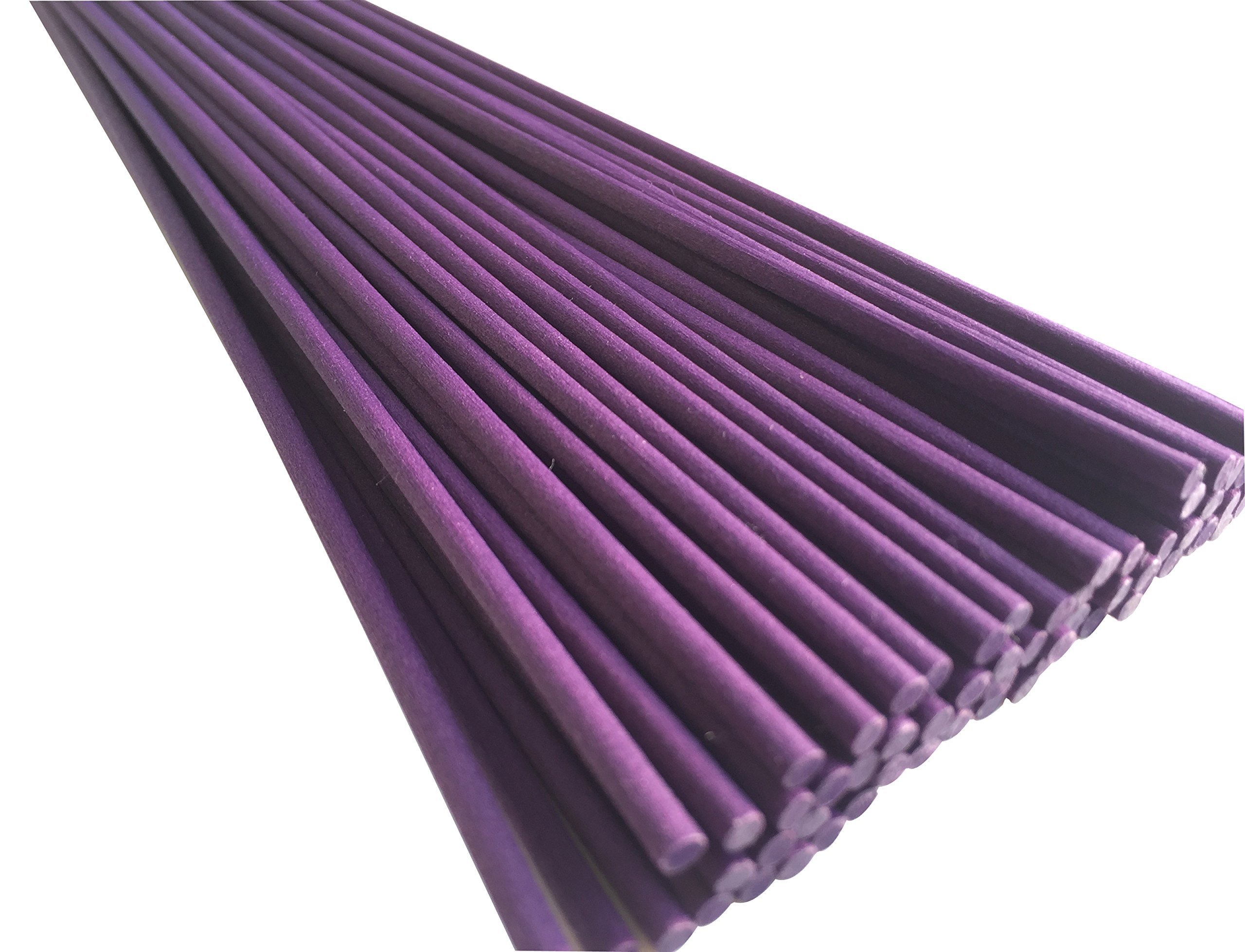 Breath Me TM Reed Diffuser Fiber Sticks,Ideal Replacements for Room Fragrance Diffusers 12'' X 3mm-Deep Purple(100 Pcs)
