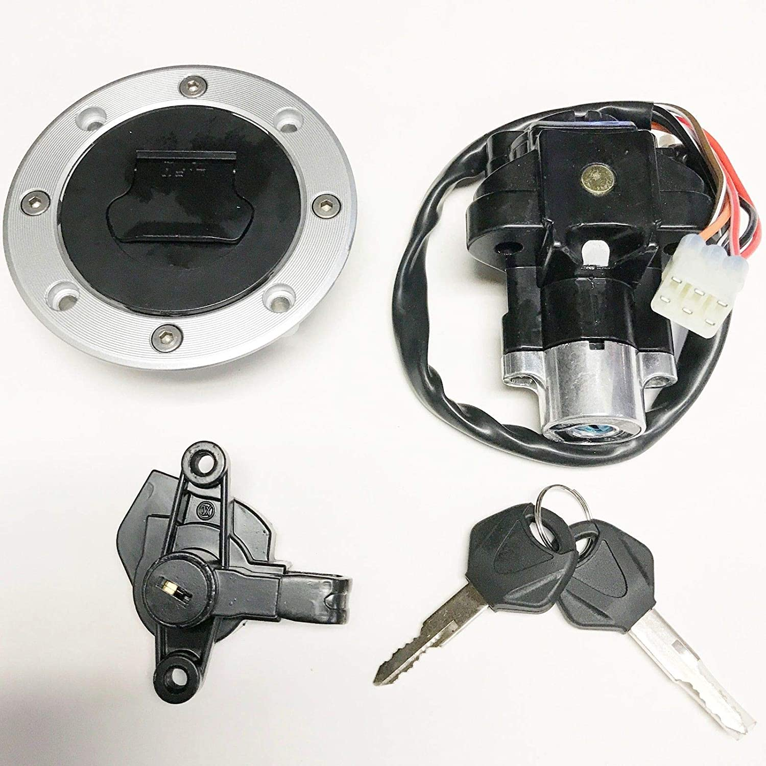 Ignition Switch Gas Cap Cover Key Set Suzuki Bandit 600 1200 GSF600S GSF1200 Unbranded